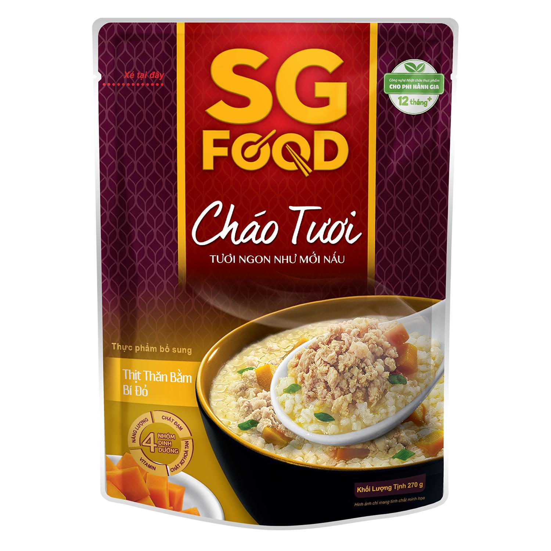 Cháo tươi Sài Gòn Food vị thịt bằm bí đỏ