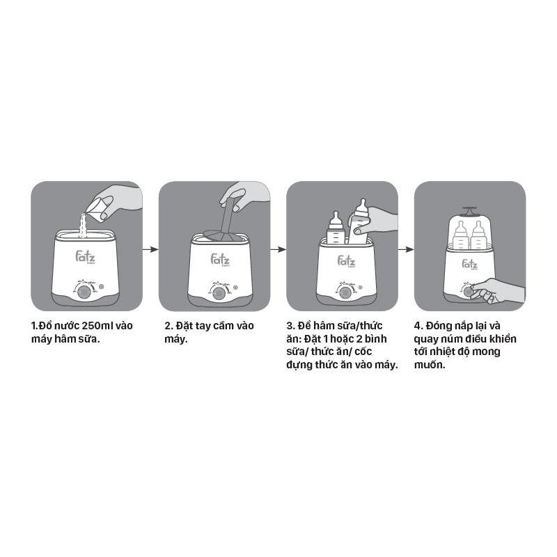 Hướng dẫn sử dụng máy hâm sữa Fatz