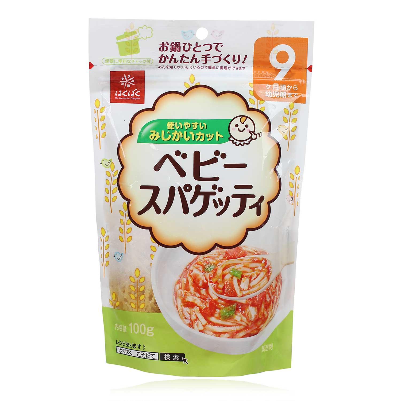 Mì spaghetti cho trẻ từ 9 tháng tuổi Hakubaku (100g)