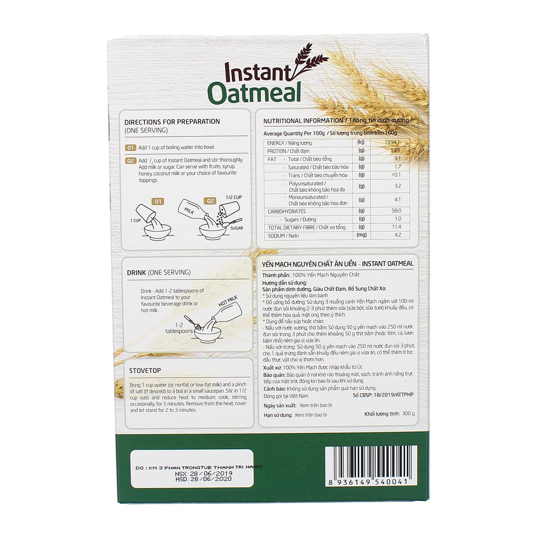 Cách sử dụng Yến mạch nguyên chất ăn liền Organic EUDORA 300gr (hộp giấy)