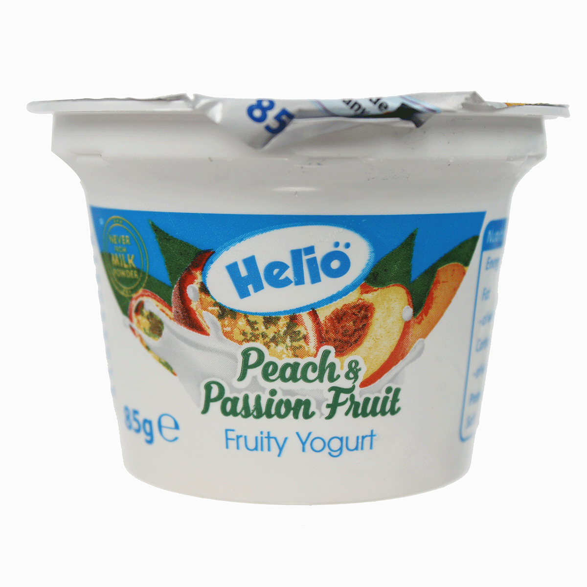 Sữa chua Helio vị đào chanh leo hũ 85g cho bé trên 6 tháng tuổi