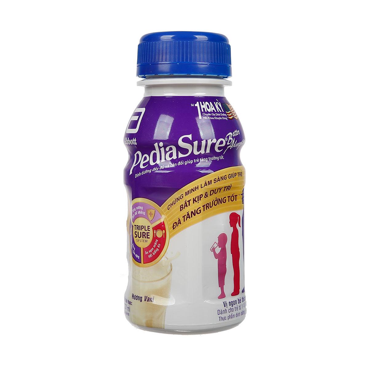 Sữa nước PediaSure BA 1+ hương Vani 237ml cho bé từ 1-10 tuổi