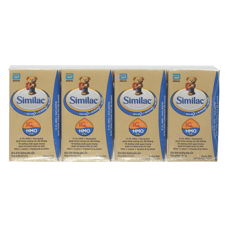 Sữa nước Similac Eye-Q HMO hương vani 4x110ml