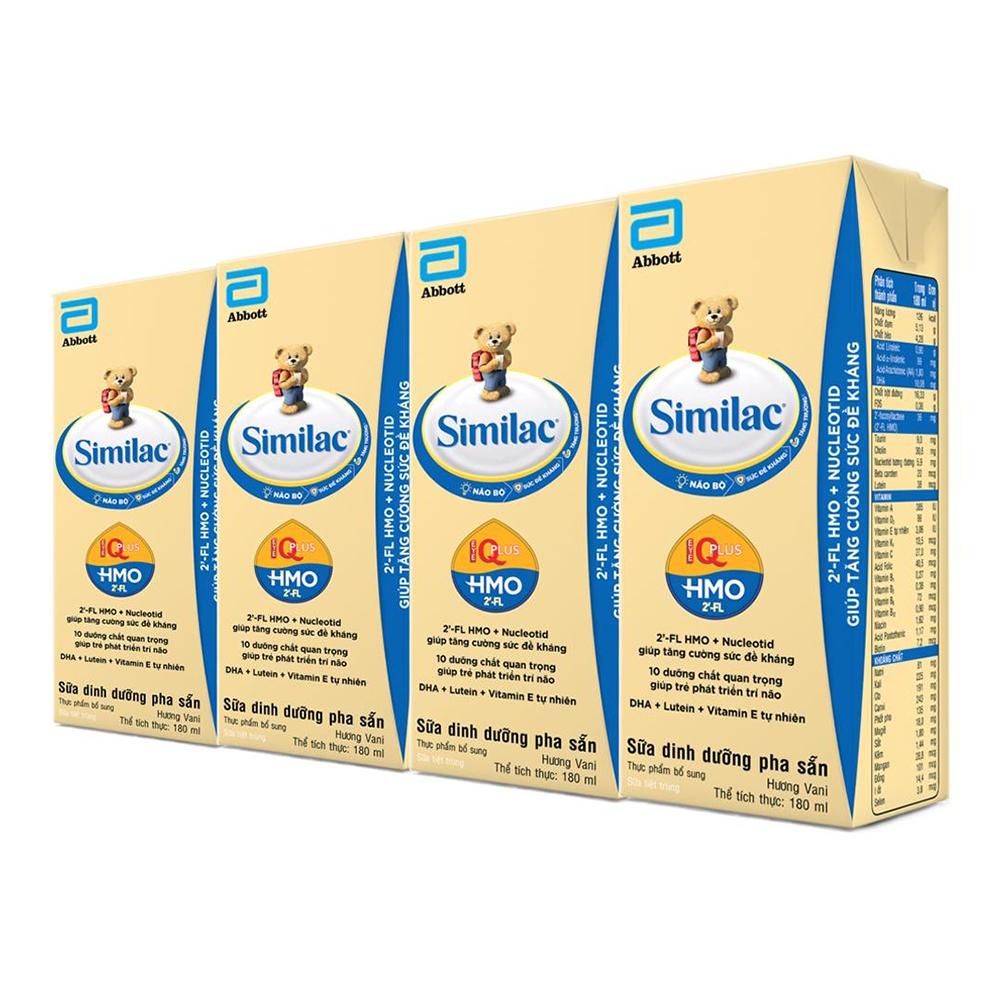 Sữa nước Similac Eye-Q HMO hương vani 4x180ml cho trẻ từ 2-6 tuổi