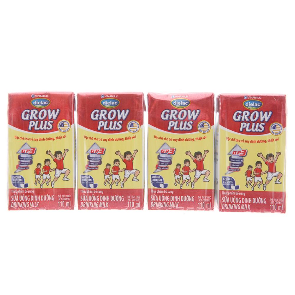 Đặc điểm nổi bật sữa uống dinh dưỡng Dielac Grow Plus (4*110ml) cho bé trên 1 tuổi