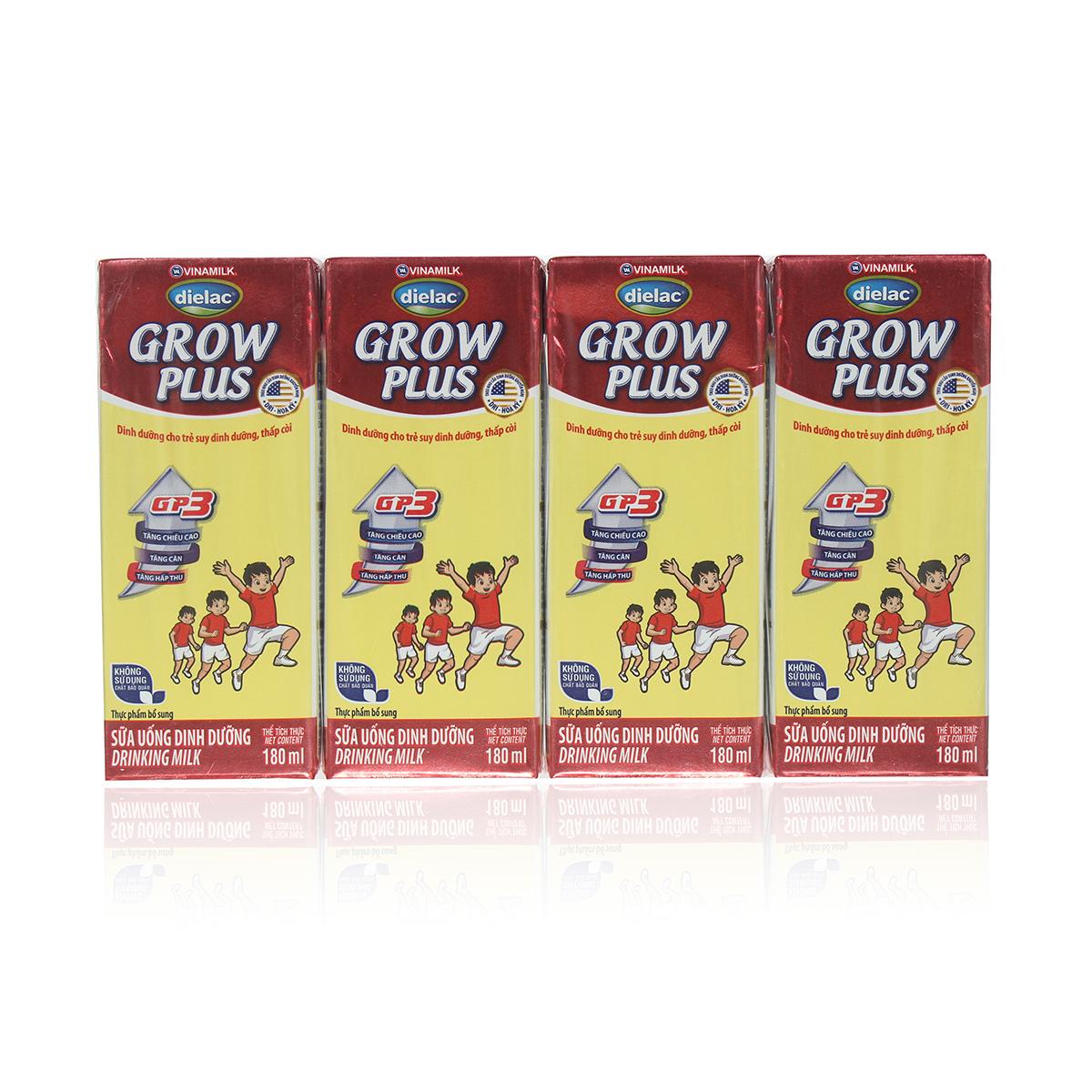 Sữa uống dinh dưỡng Dielac Grow Plus (4*180ml) cho bé trên 1 tuổi