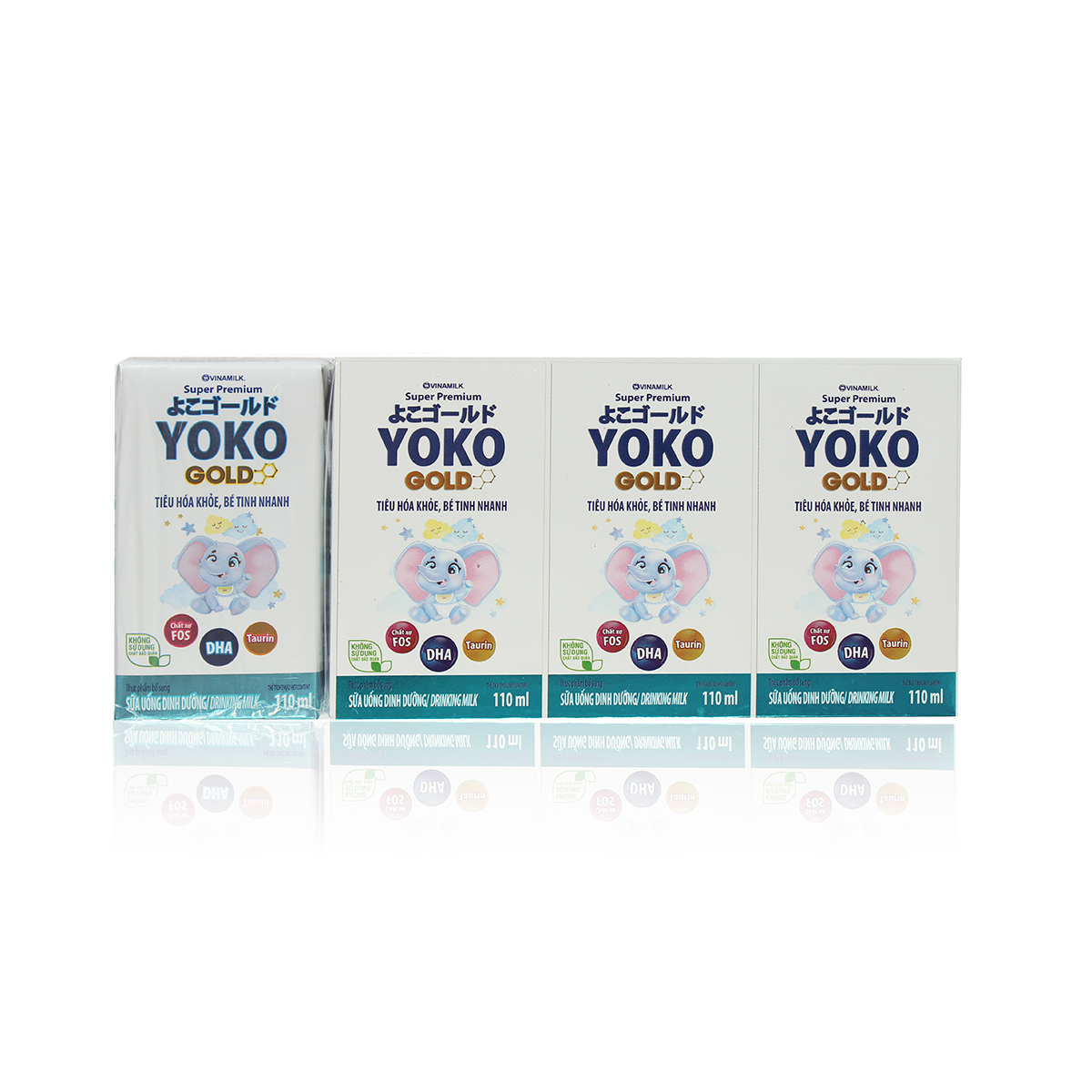 Sữa uống dinh dưỡng Vinamilk Yoko Gold (4*110ml) cho bé trên 1 tuổi