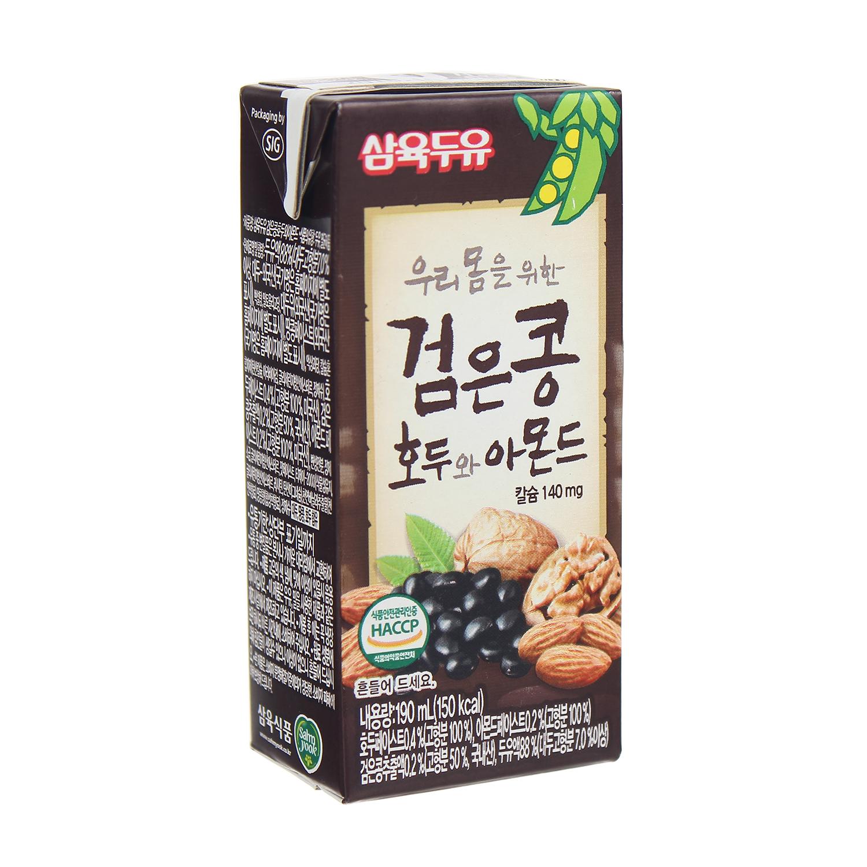Nước đậu đen hạnh nhân óc chó Hàn Quốc 190ml