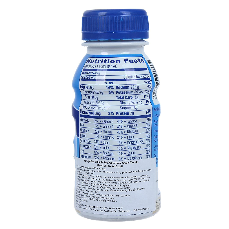 Sữa nước Pediasure vanilla 237ml cho bé trên 2 tuổi