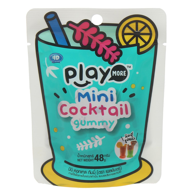 kẹo dẻo hình ly Cocktail Mini Playmore 48g