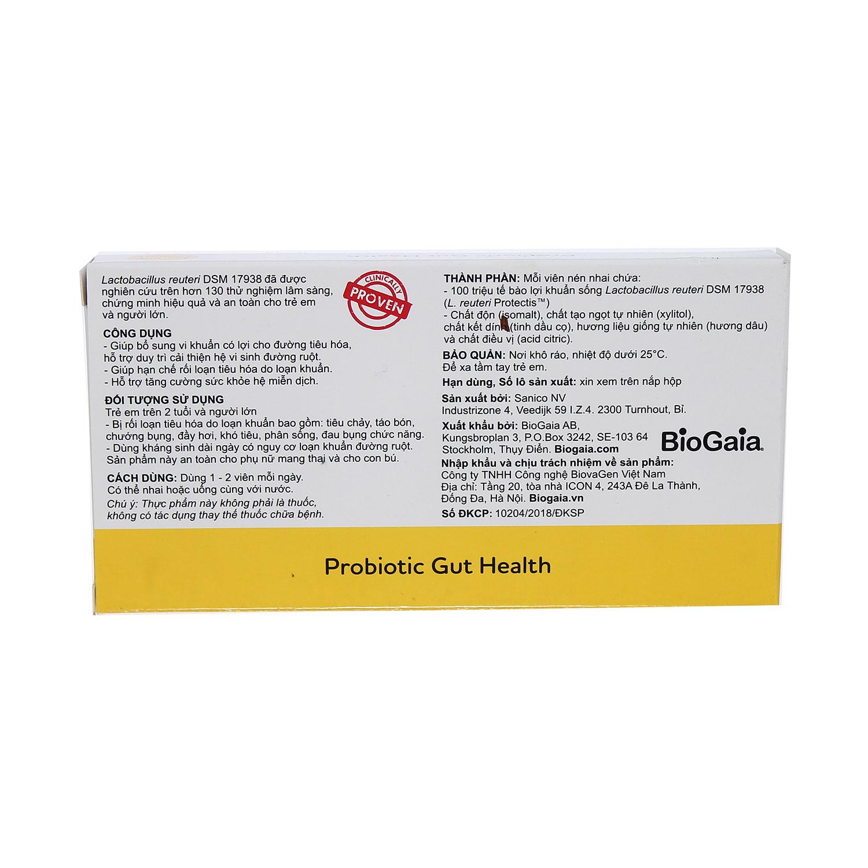 Men vi sinh BioGaia Protectis Tablets 2+