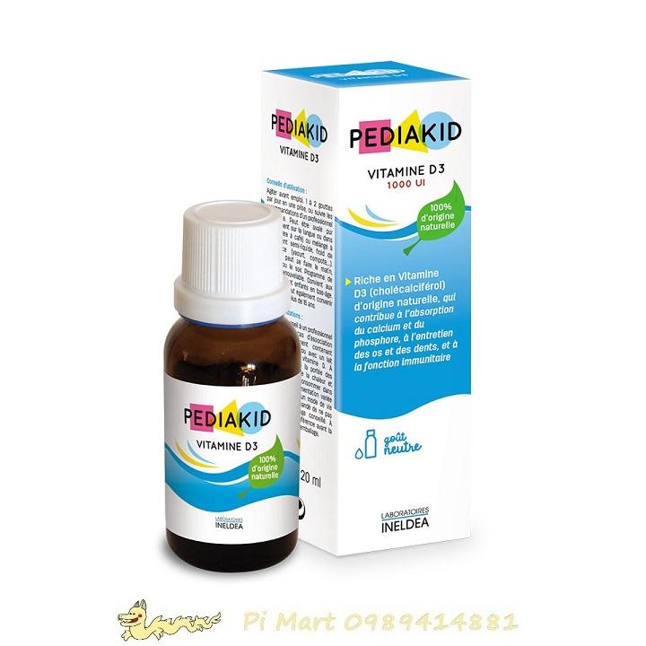 Pediakid Vitamin D3 (20ml, Pháp) cho bé từ sơ sinh