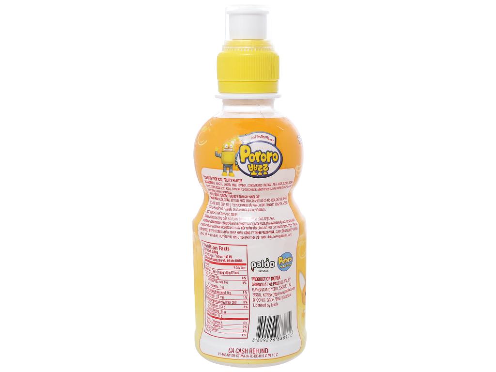 nước uống Pororo vị trái cây nhiệt đới235ml