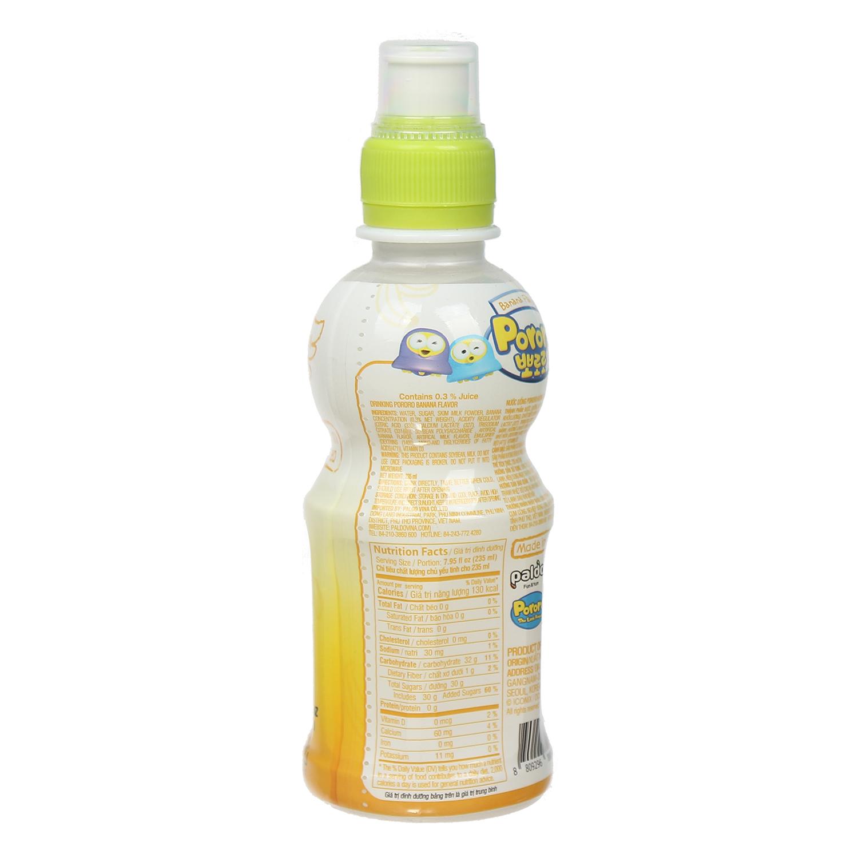 Nước uống Pororo hương vị chuối 235ml tốt cho sự phát triển của trẻ