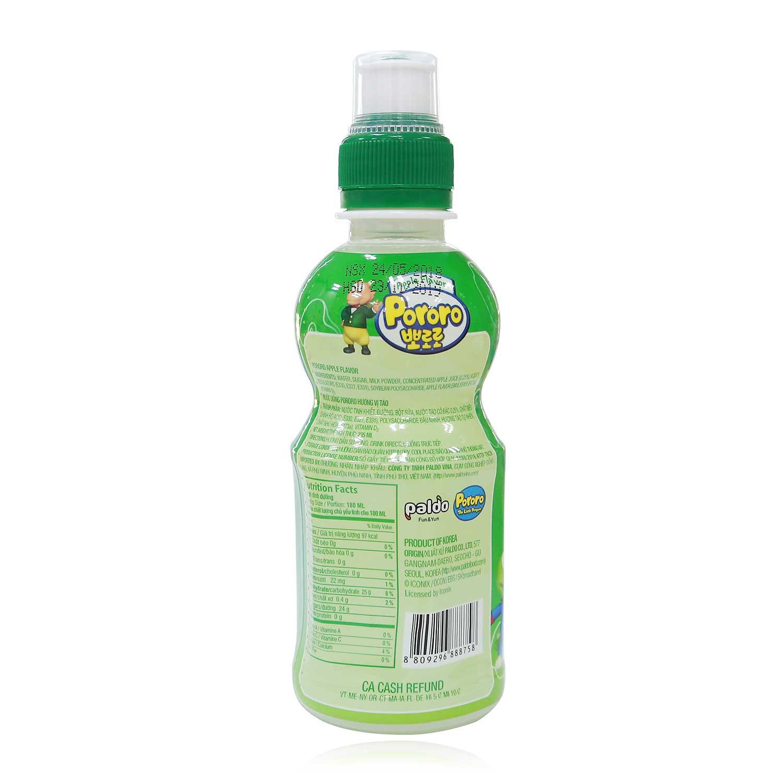 nước uống Pororo hương vị táo chai 235ml