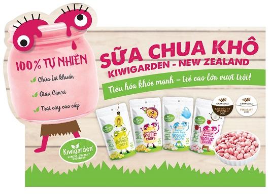 Sữachua khô Kiwigarden vị kiwi vàng 20g