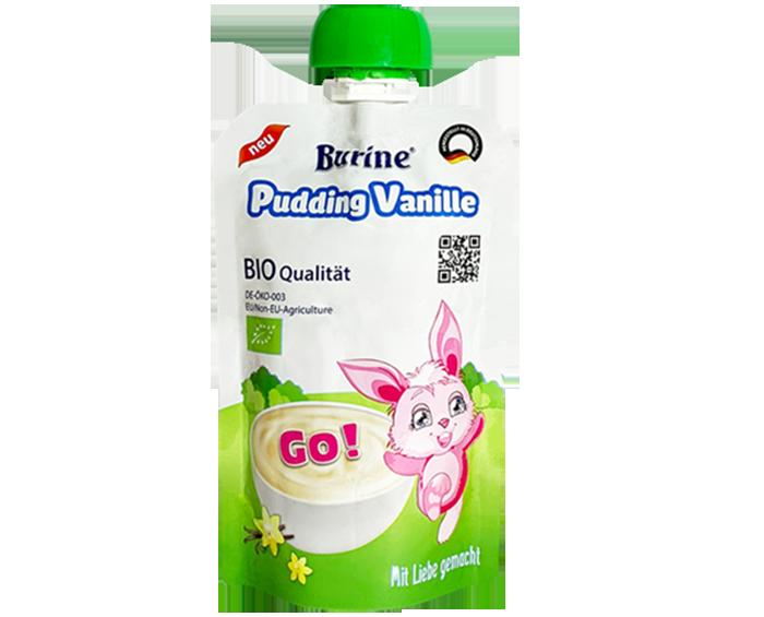 Pudding Burine Organic vị Vani 95g cho bé trên 6 tháng tuổi