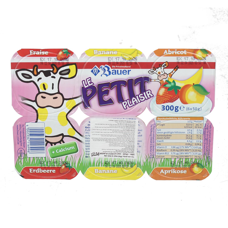 Sữa chua hoa quả Bauer Petit (6 hộp) cho bé trên 6 tháng tuổi