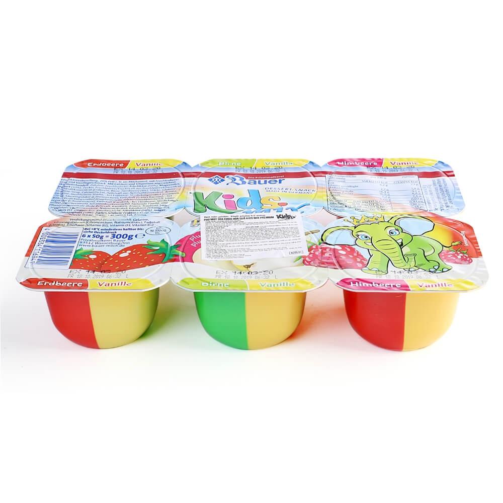 Sữa chua hoa quả Kidsmix Premium 6X50g cho bé