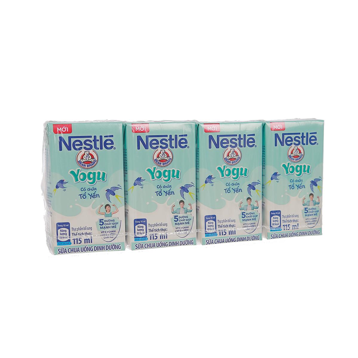 Sữa chua uống Nestl'e Yogu (4x115ml) cho bé trên 1 tuổi