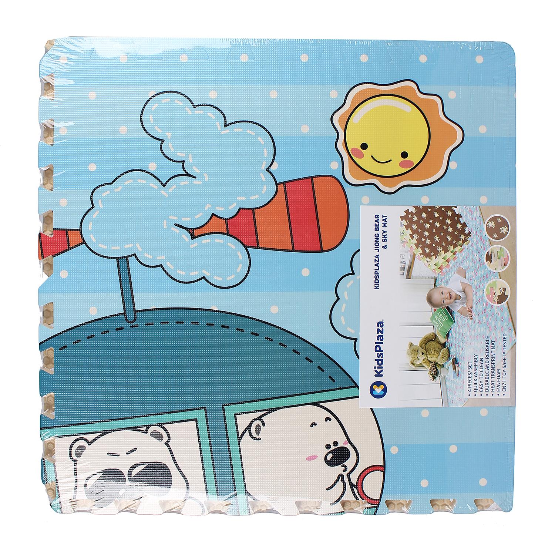 Thảm ghép Kidsplaza Jiong Bear và Sky bằng chất liệu an toàn