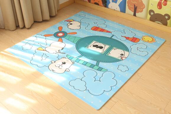 Thảm ghép Kidsplaza Jiong Bear và Sky in họa tiết lôi cuốn