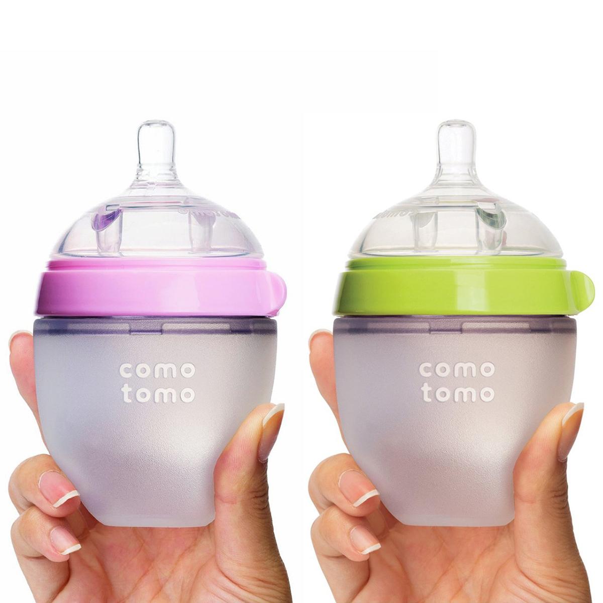 Bình sữa Comotomo 150ml chất liệu silicone mềm mại