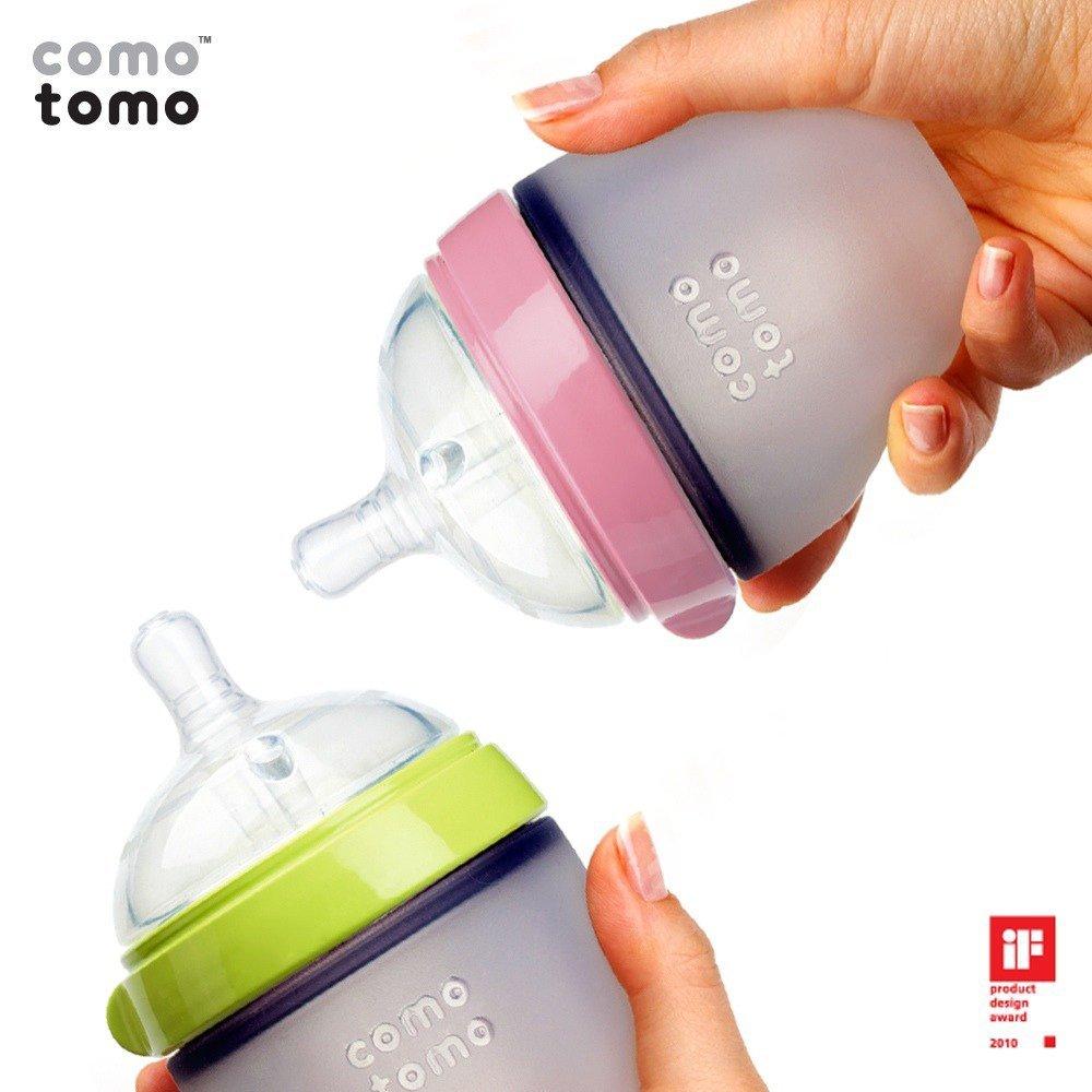 Bình sữa Comotomo 150ml thiết kế an toàn ngăn lượng khí gây đầy hơi cho bé