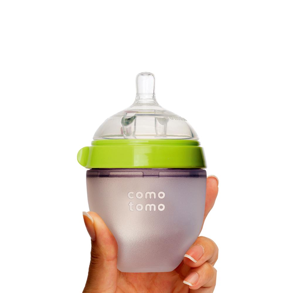 Bình sữa Comotomo 150ml có núm silicone siêu mềm (màu xanh)