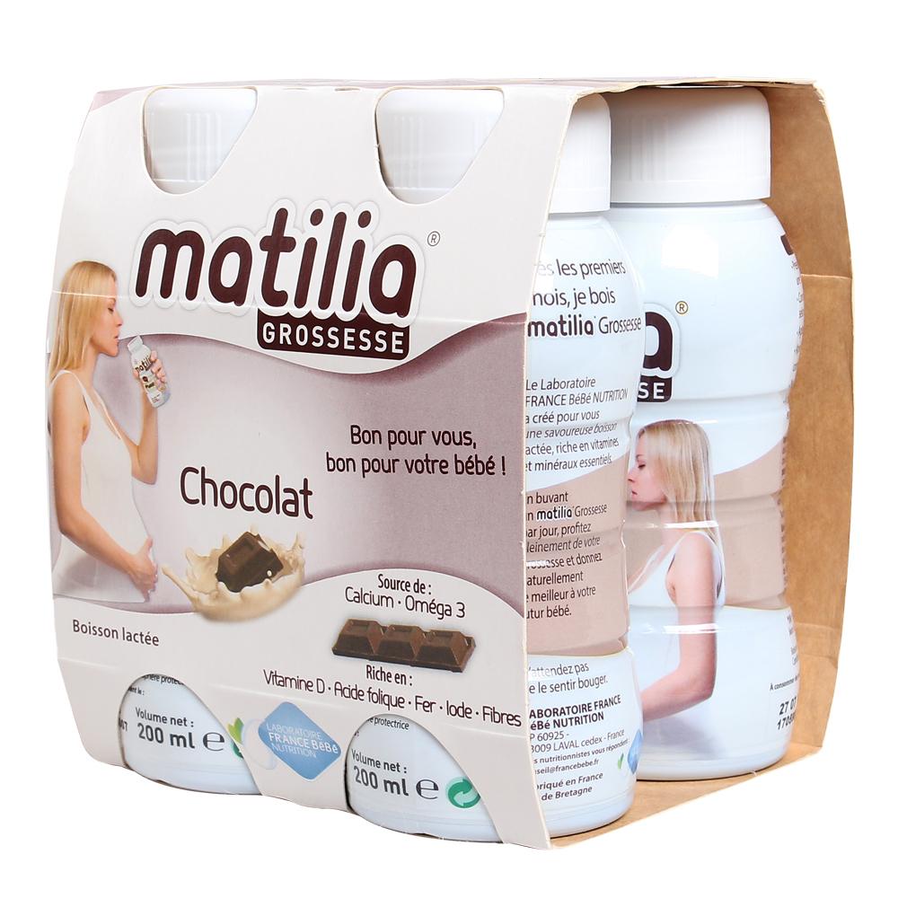 Sữa Bầu Matilia Vị Socola (Lốc 4 Hộp)