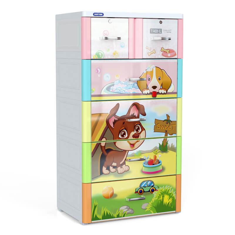 Tủ nhựa cho bé Tabi Duy Tân L đa sắc 5 tầng 6 ngăn