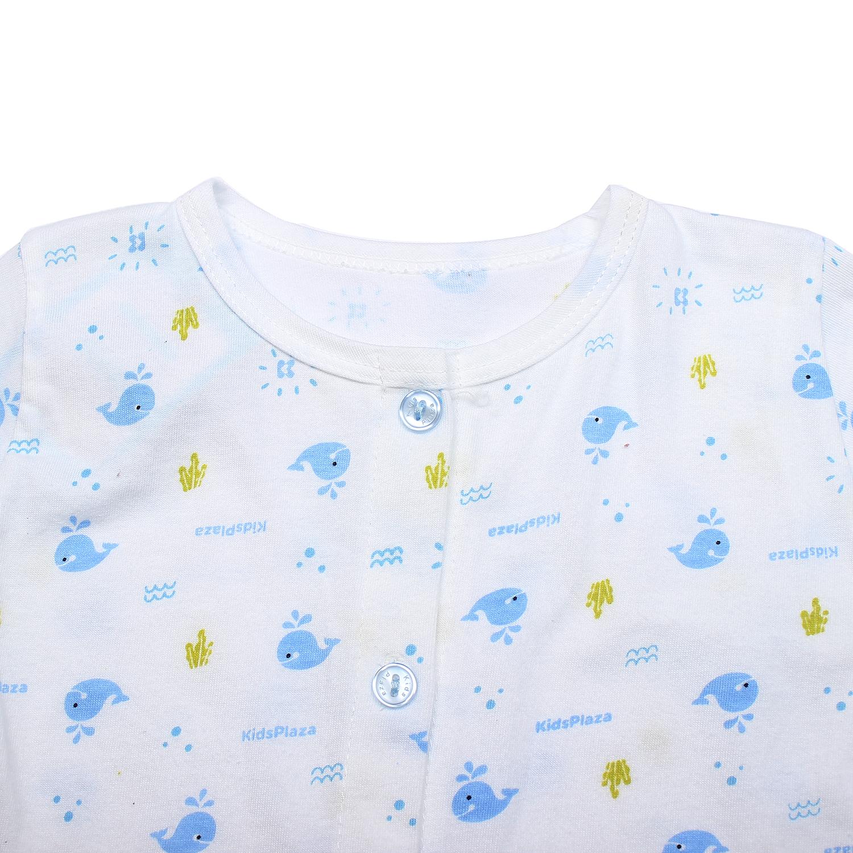 Áo sơ sinh dài tay KidsPlaza in hình chú cá heo (Trắng xanh) ngộ nghĩnh, đáng yêu
