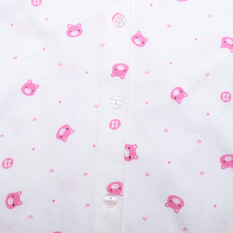 Áo sơ sinh dài tay KidsPlaza in hình chú heo (Trắng hồng) ngộ nghĩnh, đáng yêu