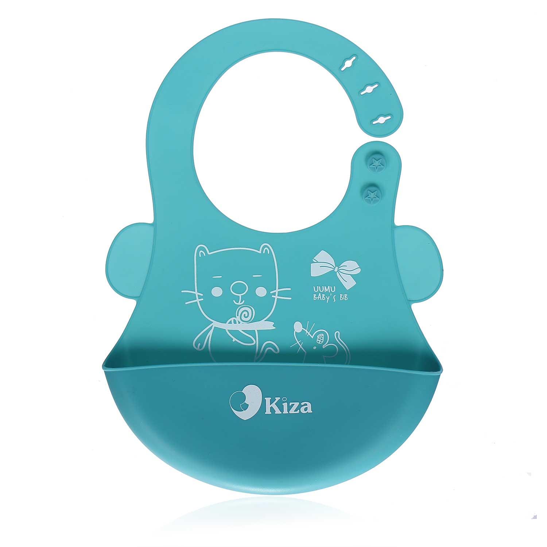 Yếm ăn cho bé silicone Kiza BIB022 họa tiết lôi cuốn