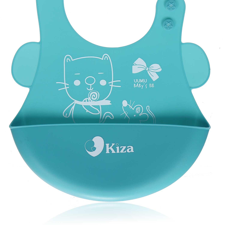 Yếm ăn cho bé silicone Kiza BIB022 bền đẹp, an toàn