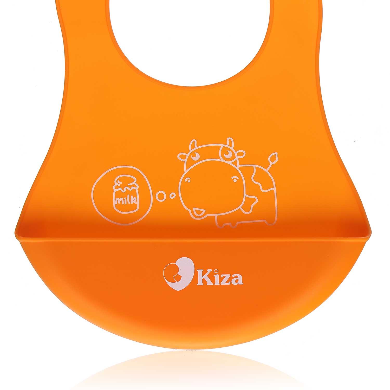Yếm ăn cho bé silicone Kiza BIB023 bền đẹp, an toàn