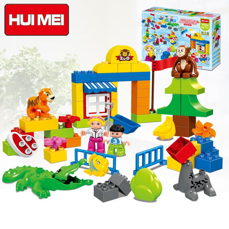 Đồ chơi xếp hình vườn thú vui nhộn Huimei HW.079-1