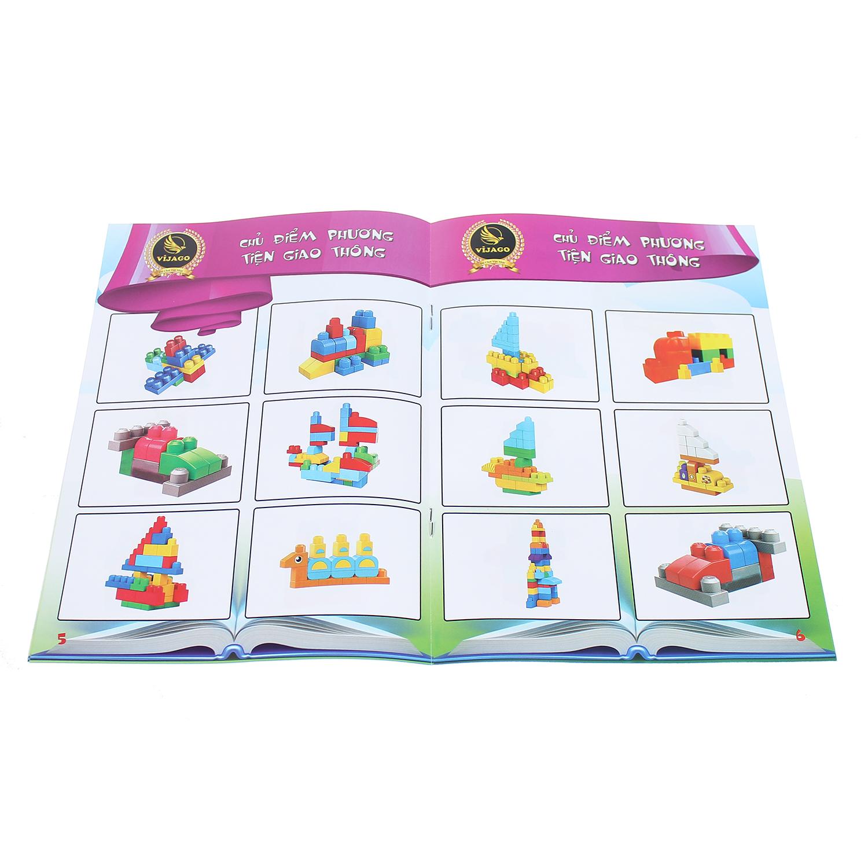 Sách hướng dẫn Đồ chơi cho bé túi xếp hình công trường VJG024