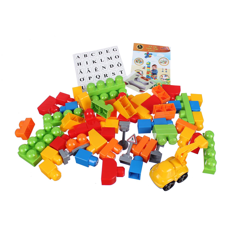 Đồ chơi cho bé thùng xếp hình sáng tạo VJG028