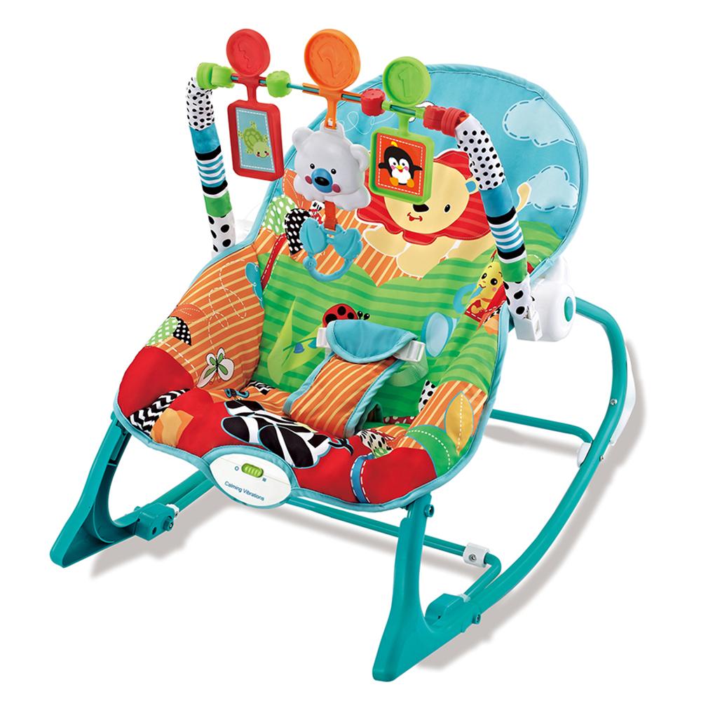 Ghế rung cho bé Kiza Happy Zoo 861 xanh ngọc