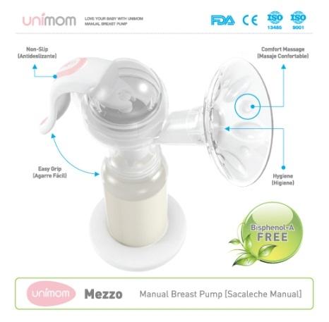 Đặc điểm thiết kế máy hút sữa cầm tay Unimom Mezzo