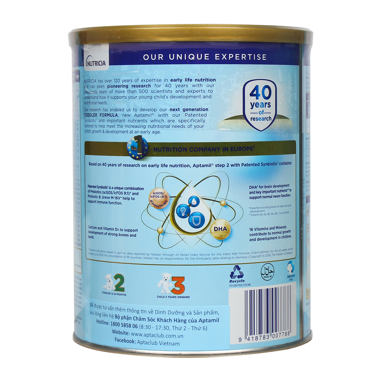 Các ưu điểm của sữa Aptamil New Zealand số 2