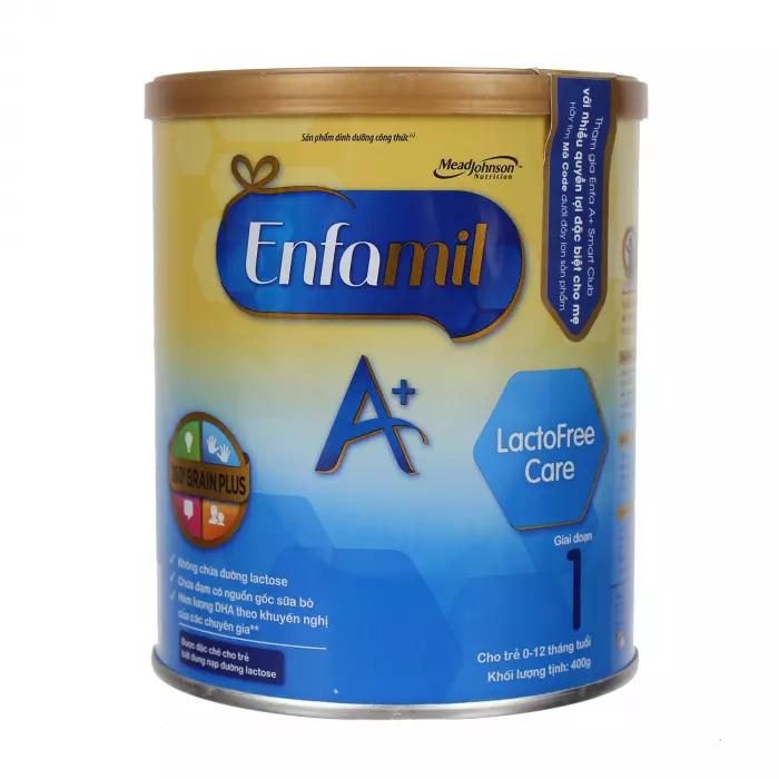Sữa Enfamil A+ Lactofree Care 400g không chứa lactose dành cho bé 0-12 tháng