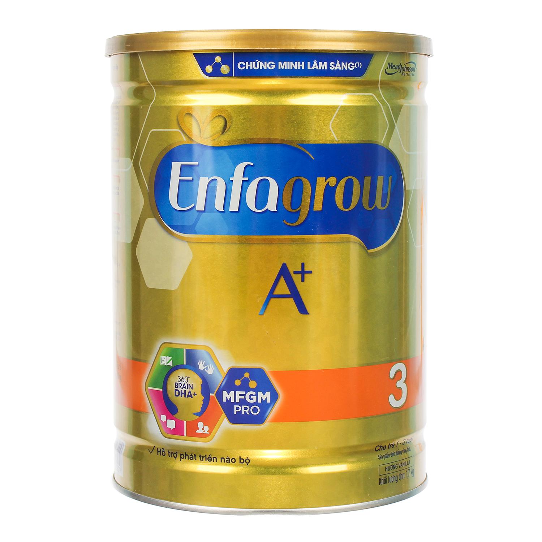 Sữa Enfagrow A+ 3 360° Brain DHA+ với MFGM PRO 1700g Vị Vani cho bé từ 1 - 3 tuổi