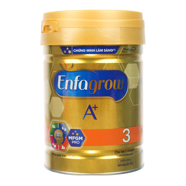 Sữa Enfagrow A+ 3  830g Vị Vani cho bé từ 1-3 tuổi