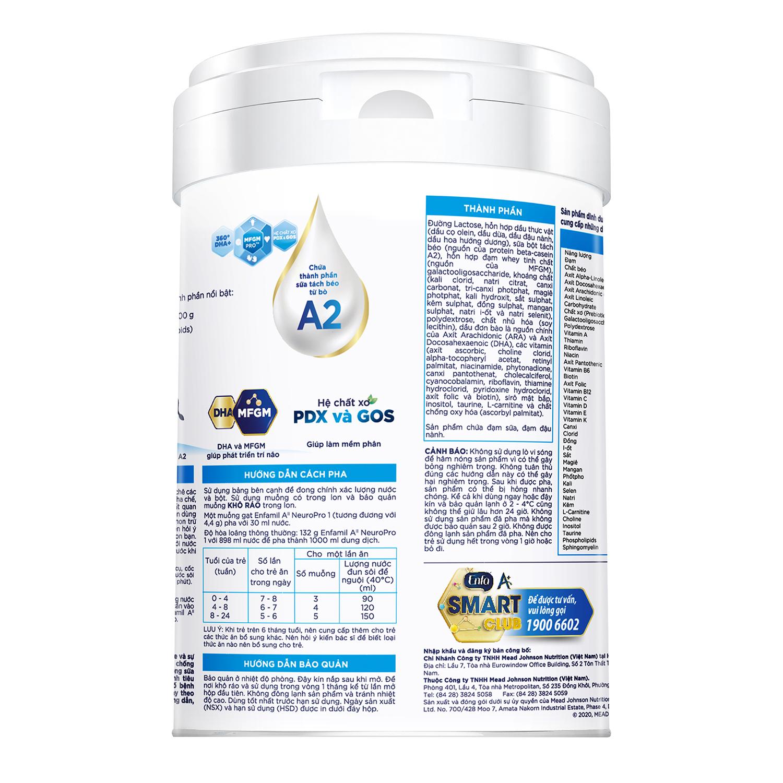 Công dụng sữa Enfamil A2 Neuropro 1