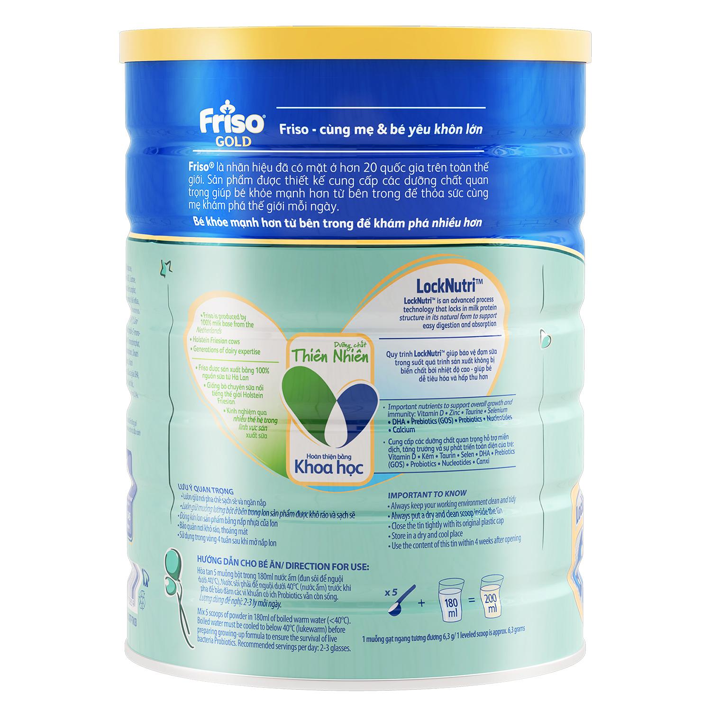 Cách pha sữa Friso® Gold 4 1500g