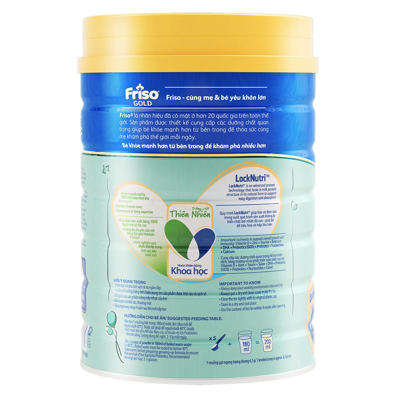 Cách pha sữa Friso® Gold 4 900g