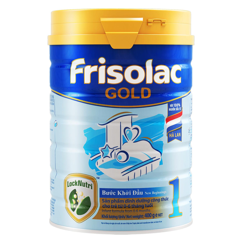 Sữa bột Frisolac Gold 1 400g cho bé 0-6M