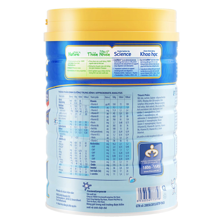 Thành phần dinh dưỡng của sữa Frisolac Gold 1 900g